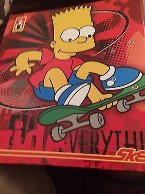 Simpsons Ring Binder Birthday Child's Present