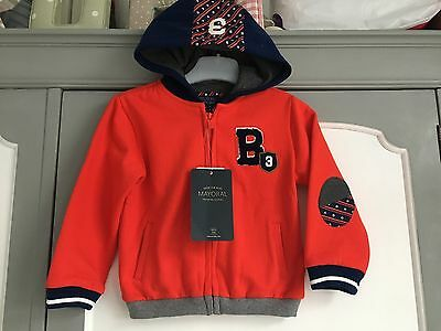 Mayoral Baby Boys Navy Red Hoody Age 24 Months New Next Day Dispatch Available