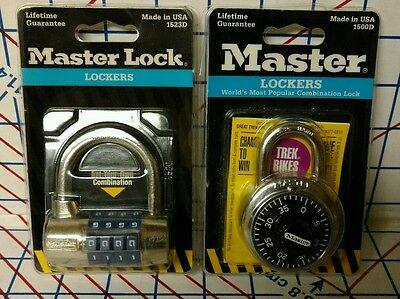 2 NEW Master Lock Steel Shackle Dial Combination Padlocks