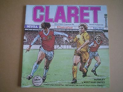 Burnley   V   West Ham     79/80