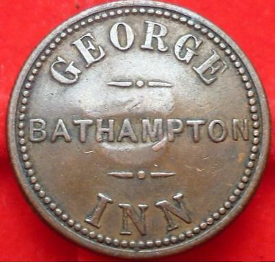Very rare SOMERSET Bathampton George Inn pub token c1870-90 only issue from here