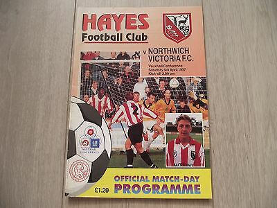 1996-97  Hayes v Northwich Victoria  -  Vauxhall Conference
