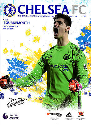 Chelsea v Bournemouth programme 26 December 2016