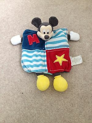 Disney Store Mickey Mouse Baby Comforter Comfort Soft Toy Blanket Blankie