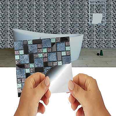 Mosaic Tile stickers Transfers KITCHEN BATHROOM TILES Marble Glass Effect