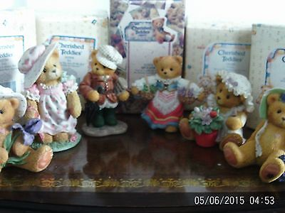 Collection of 6 boxed Cherished teddies ornaments