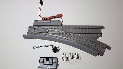 Life Like Trains Power-Loc HO Scale Track RIGHT Hand Remote Control Switch