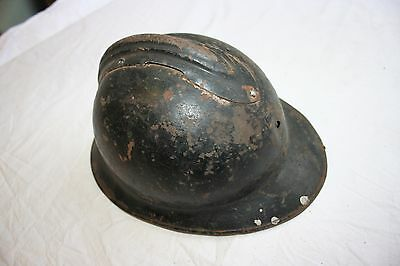 Genuine Ww2 France French Armed Forces Adrian Helmet Shell Only
