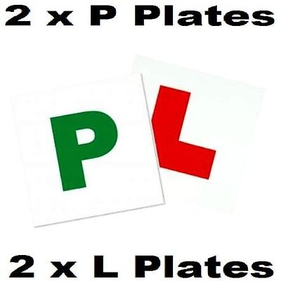 New 4 x Magnetic Learner Driver Plate Car  L & P Secure Safe Exterior Sign