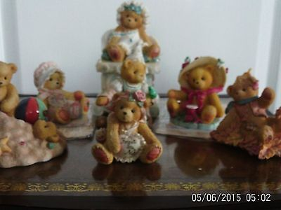 Collection of 7 cherished teddies ornaments