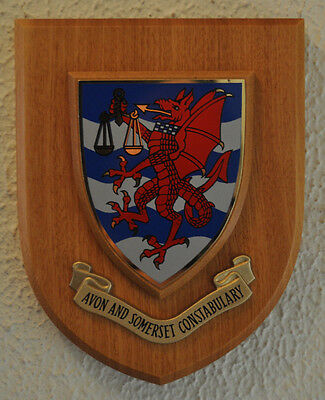Avon and Somerset Constabulary wall plaque crest shield coat of arms Police