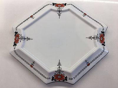 Shelley Red Daisy Queen Anne Shape Teapot Stand Pattern 11497 Circa 1926 Rare
