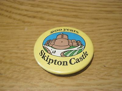 Skipton Castle Steel Pin Badge
