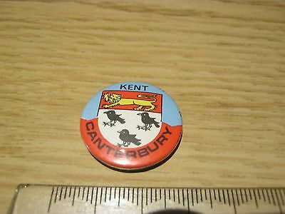 Canterbury Kent Steel Pin Badge