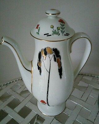 "Vintage Royal Doulton V1112 Eden1920's Art Deco Small Coffee Pot approx 8"" tall"