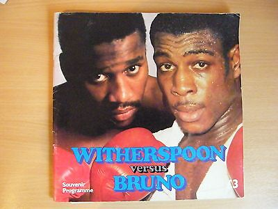 Tim Witherspoon v Frank Bruno Heavyweight Championship of the World Programme +