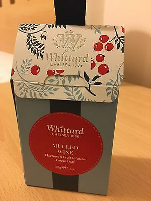 Whittard Mulled Wine Spices. NEW. Great Christmas Gift / Stocking Filler