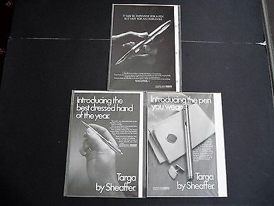 Vintage  Sheaffer   Pen   Adverts   Dated  1970 S  X  3.