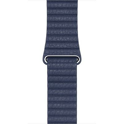 BN Original Apple Watch Midnight Blue Leather Loop Strap 42mm, Band Bracelet