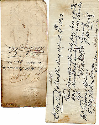 4 x Antique Promissory Notes dated 1812 - 1852 2 x 1856