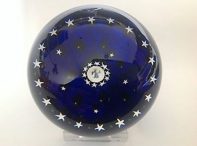 """Perthshire Christmas Series 1979 """"Angel"""" Art Glass Paperweight"""