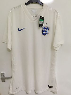 England Nike Player Issue Home Football Shirt 2014-15 Size XL BNWT New With Tags