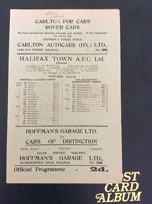 Halifax Town v Chesterfield 24/3/1945 war cup north