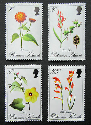 Pitcairn Islands - 1970 Complete Flowers Set - SG 107 - SG 110 - Unmounted Mint.