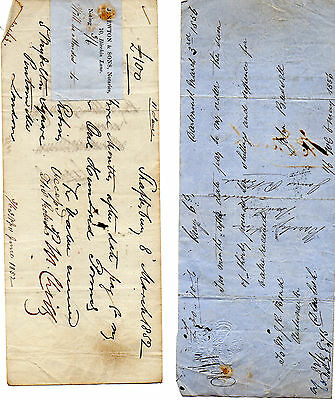 3 x Antique Promissory Notes dated 1812 - 1852 - 1856