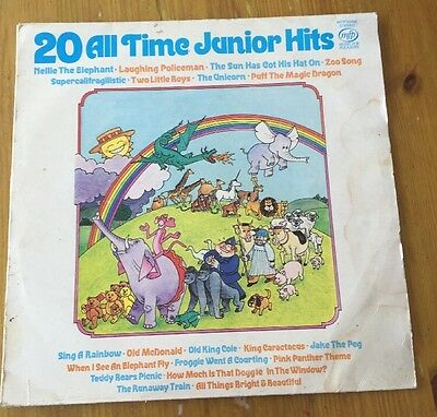 20 All Time Junior Hits. Vinyl LP Record.