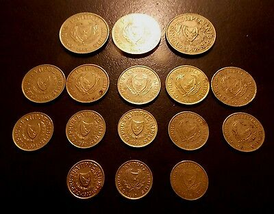 Coins 16 Cyprus Coins (1983 - 1994)