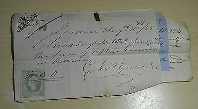 4 x Antique Receipts and 1 Promissory Note dated 2 x 1855  3 x 1854