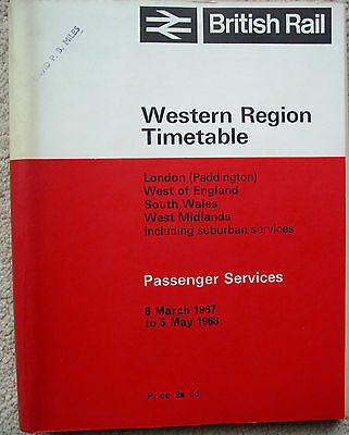BR(WR) timetable 1967/8 inc Cymmer Afan,Loudwater,Minehead, Ilfracombe +6 supps