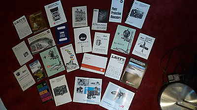 Huge Lot Of 25 Vintage Leica Books Manuals & Advertising Sales Brochures