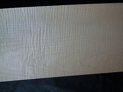 Curly Maple Raw Wood Veneer Sheets, 8 x 28 inches. 1/42nd  thick        r7717-10