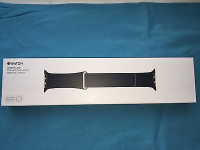 Apple Watch Midnight Blue Leather Loop Strap