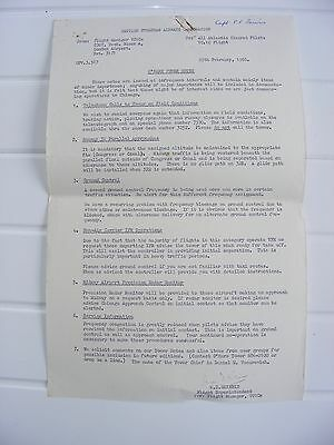 Boac Historical Documents For Chicago O'hare Airport 1965/66