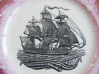 Large Plate By Grays Pottery. American Nautical Interest.