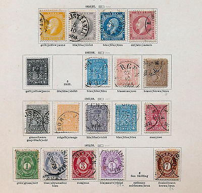 NORWAY 1856/1930s Mint&Used Collection on OLD Pages(120+Items) B6