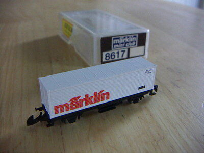 Z Gauge Goods Wagon 8617 Marklin Container New  Miniclub Boxed Z Scale