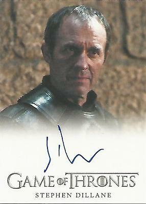 "Game of Thrones Season 3 - Stephen Dillane ""Stannis Baratheon"" Autograph Card"