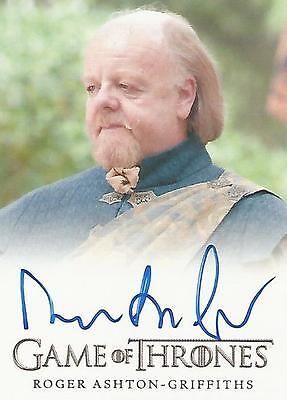 "Game of Thrones Season 5 - Roger Ashton-Griffiths ""Mace Tyrell"" Autograph Card"