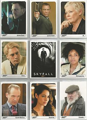 """James Bond Archives 2014 - """"Skyfall Expansion"""" Set of 19 Chase Cards"""