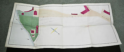 Antique Map of Property Belonging to George Gooch in Ramsgate Kent circa 1861
