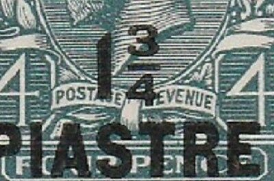 Constantinople KGV SG38a surcharge 1¾ PIASTRE on 4d [Variety thin 4]  cv£50+ E1