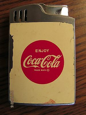 Old 1963 Coca Cola Musical Cigarette Lighter W/ Bag Blue Bird Japan
