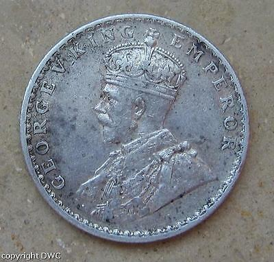 Coin Münze 1 Rupee India 1912 Georges V. Silber Nr. 9619