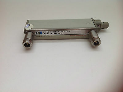 HP 8494B manual RF Step Attenuator , 0 - 11 dB ( 1 dB Steps ) , DC - 18 GHz