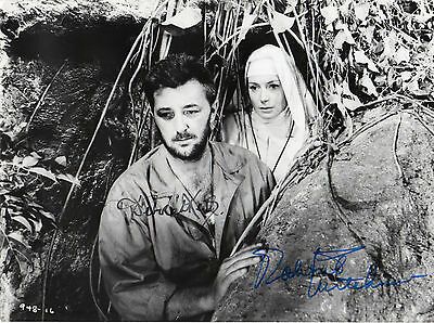 Robert Mitchum + Deborah Kerr hand signed autographed 7x9 photo (both signed)