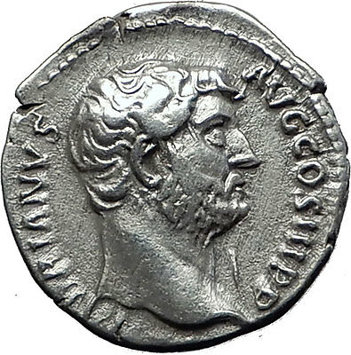 Hadrian  137AD Silver  Rare  Ancient Roman Coin Moneta Funds Protectress i58505